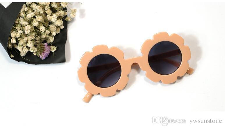 2021 Nette Blume Runde Kinder Kinder Sonnenbrille UV400 Eyewear Floral Jungen Mädchen Schöne Baby Sonnenbrille