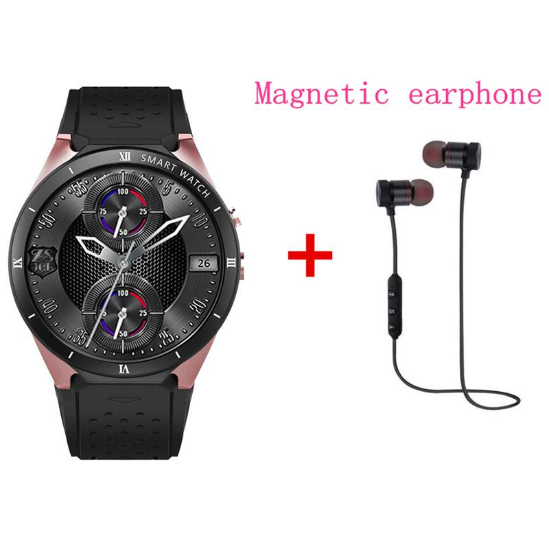 Android 7 0 Smart Watch KW88 plus Phone MTK6580 quad core 1 3GHZ ROM 16GB +  RAM 1GB 1 39 inch 400*400 Screen with 2 0MP camera