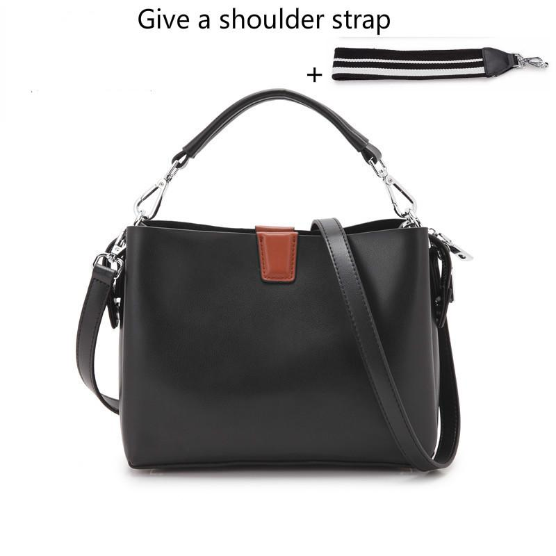 57b343c0185 Real Leather Tote Bag Luxury Handbags Women S Bag Designer Boston Bolsos  Mujer Women Messenger Bags Give A Shoulder Strap Change Leather Purses  Cheap ...