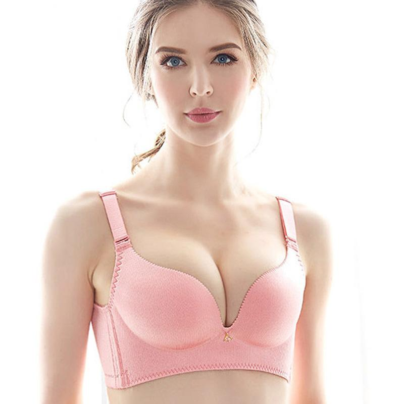 acc800236d 2018 Women Push Up Bra Lace Bralette Adjusted Comfortable Wireless Bra  Seamless Underwear Women Massage Cup Sexy Girl Lingerie Online with   26.42 Piece on ...