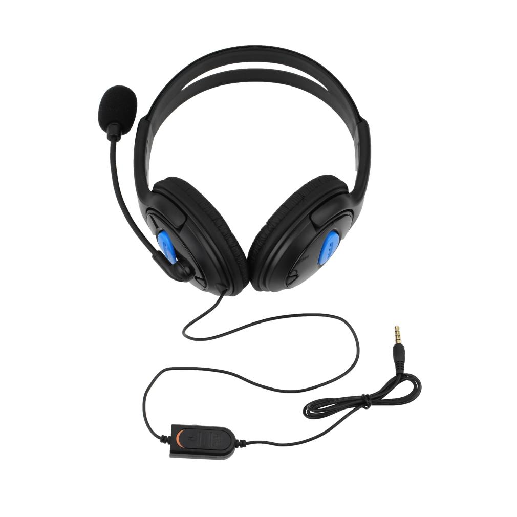 P4-890 Wired Gaming Headset Earphones Headphones with Microphone Mic Stereo  Supper Bass for PS4 for PlayStation 4 Gamers Free shipping