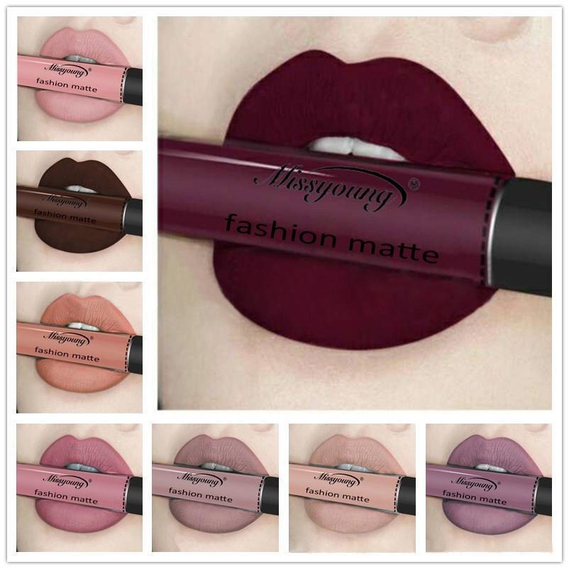 Lip gloss colors on lips