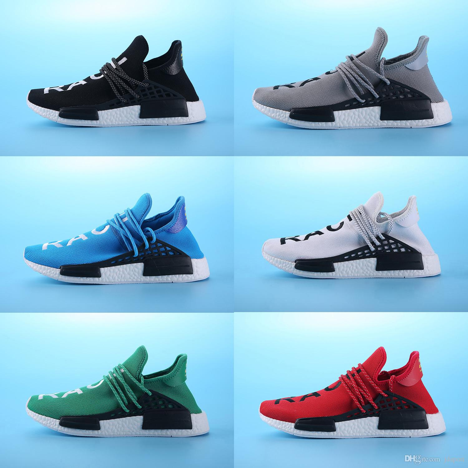 Newest NMD Runner Primeknit Men'S Running Shoes Fashion Running Sneakers for Men and Women Human Race Free Shipping Black discount fast delivery outlet 2014 unisex sale sast DKnZtA7ml