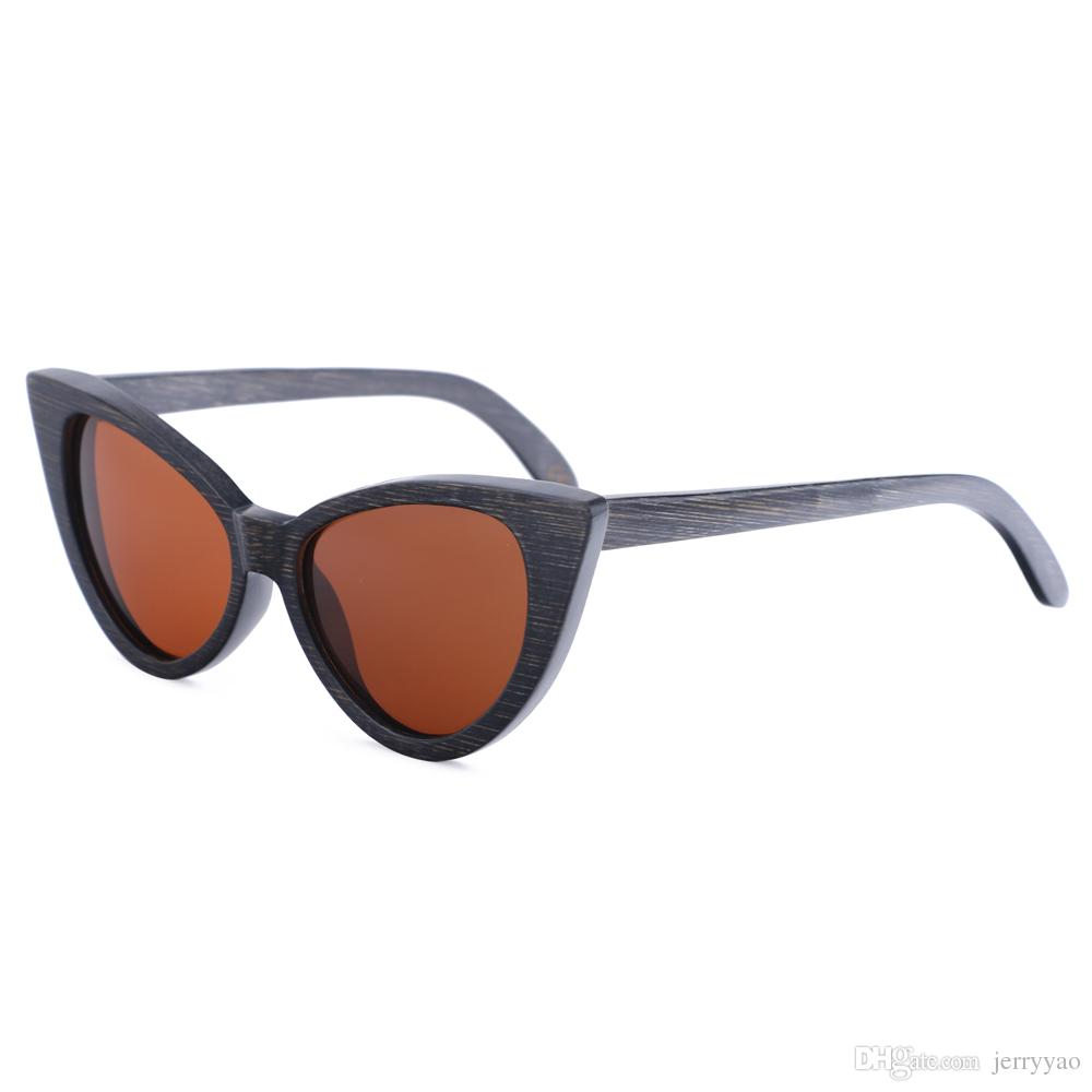 fee0ae27eaf NEW Wood Sunglasses Women Bamboo Frame Eyeglasses Polarized Lenses ...