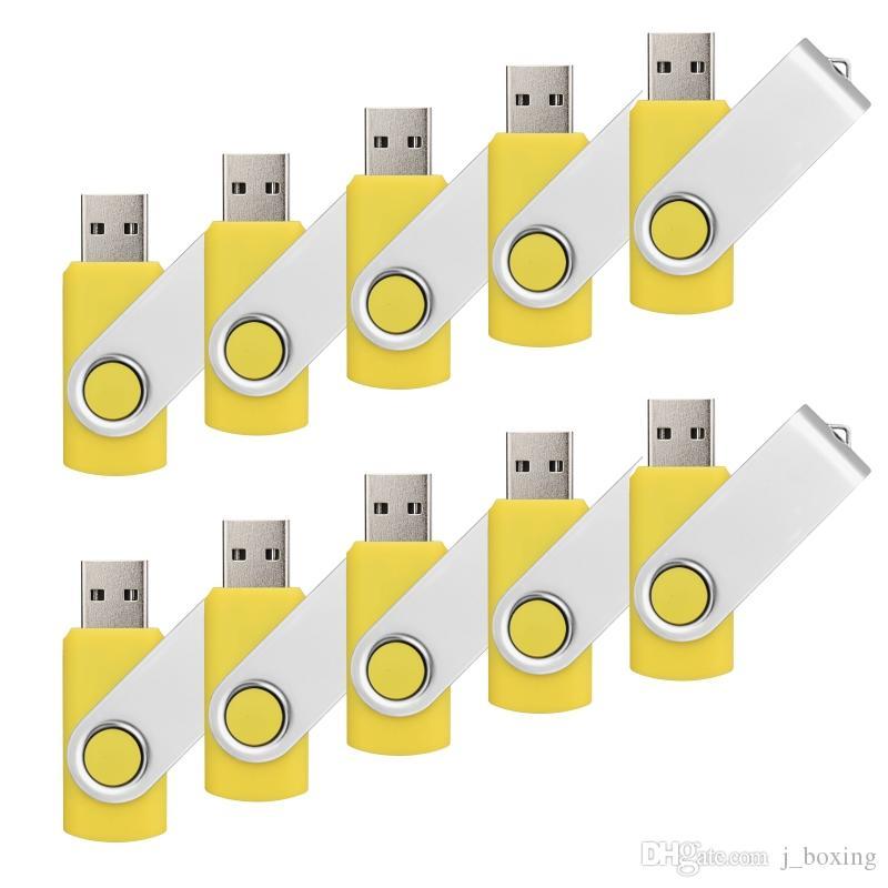 10PCS 1GB USB Flash Drive Rotating USB Pen Drive for Desktop Laptop Memory Stick