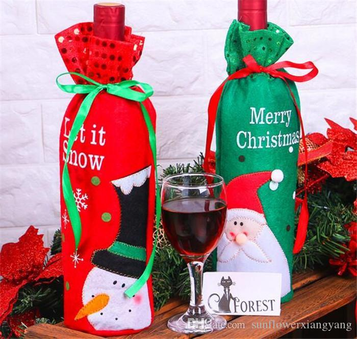 christmas red wine bottle bags gift for xmas bar red wine bottle cover bags christmas decorations best christmas decorations online best christmas
