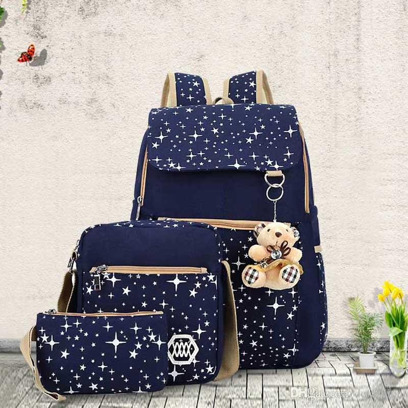 Wholesale 2018 Large Capacity Cute Backpack With Bear School Bags For Teenagers  Girls Backpacks Dots Printing Laptop Bag Bags For School School Backpack ... 5c1130ddd7