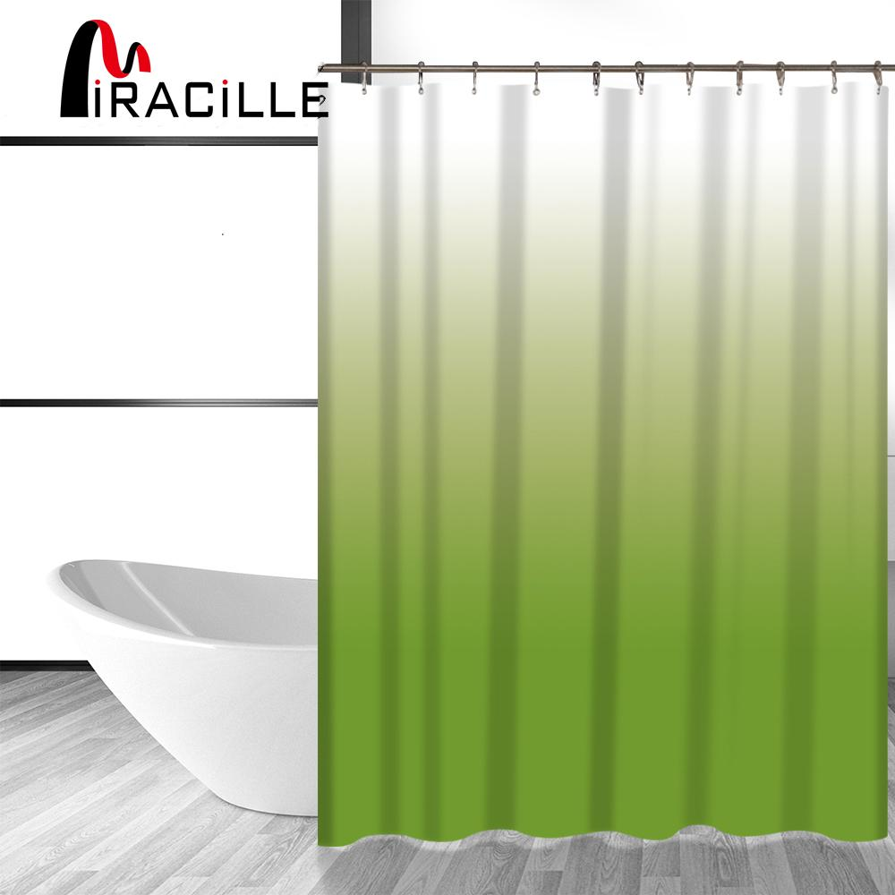2018 Miracille Fashion Color Change Printed Durable Bathroom Shower Curtains Waterproof Polyester Fabric Bath Curtain Washroom Decor From Sophine11