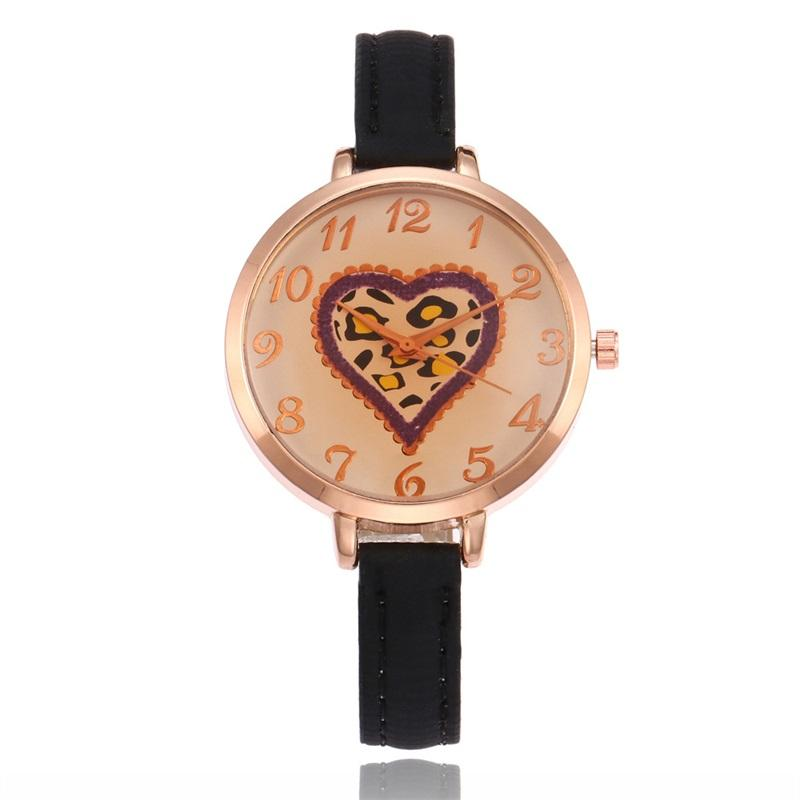a2cb7140f71 Ladies Charm Bracelet Watch Top Brand Luxury Quartz Wristwatches Leopard  Love Heart Design Gold Watch Bracelet Clock Wrist Watch Online Buy Wrist  Watch ...