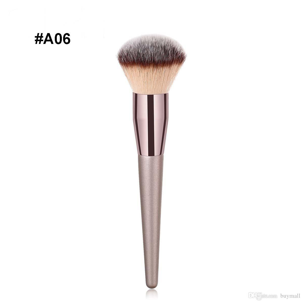 Premium Make Up Brush Champaign Gold Color Wood Handle Makeup Tool Accessories Single Cosmetic For Eyeshadow Blush Dhl Free Cases Set