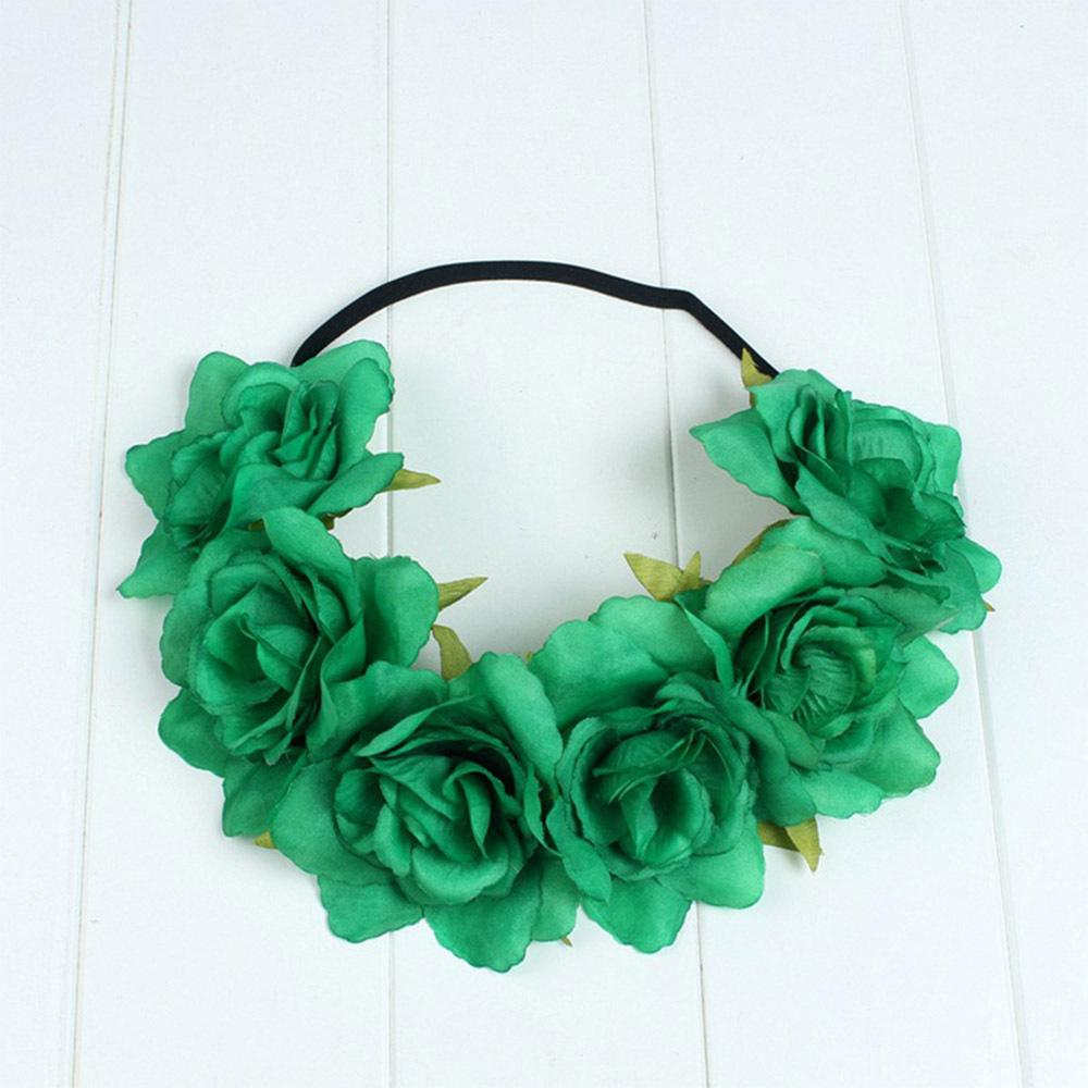 11Designs Simulation Flower Garland INS Hot Summer Vacation Baby Girls Headbands Hair Accessories for Women Bride Xmas Party Hairband
