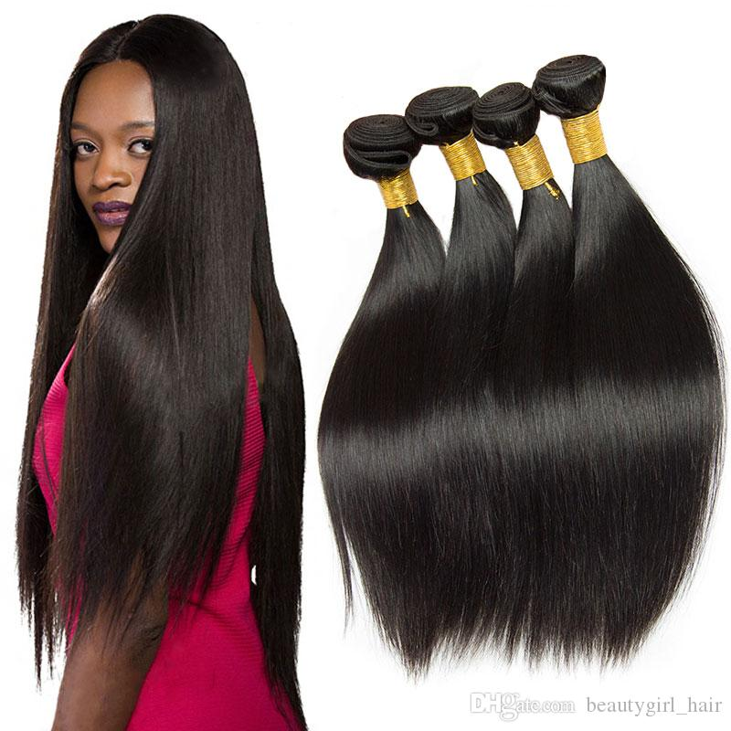 New Arrivals Indian Straight Human Remy Hair Weaves Extensions 3