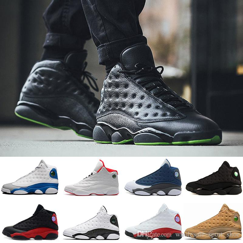 88cf6825efd8 2019 Cheap New 13 Basketball Shoes Mens Sneakers GS Bordeaux Brand Name Men  13s Black Blue White Sports Shoes US 8 13 From Wholesale sport shoe