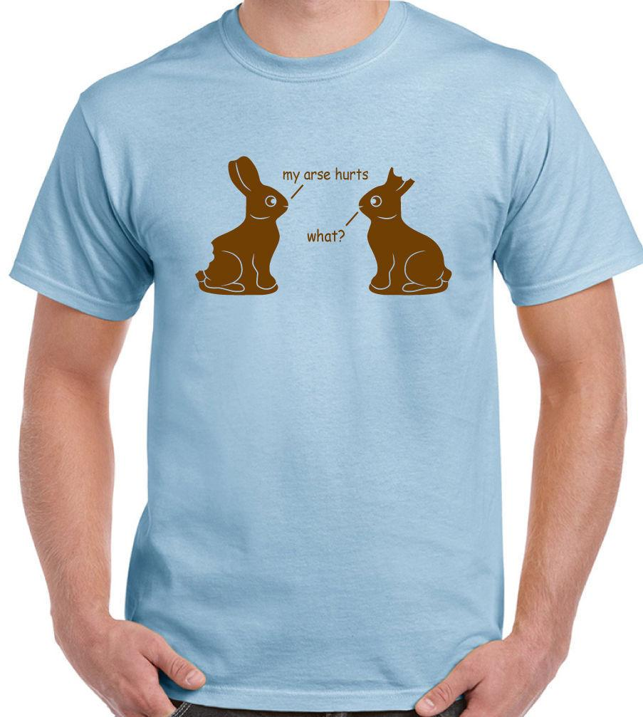68bc4f45 My Arse Hurts Mens Funny Easter T Shirt Chocolate Bunny Rabbits Egg  HolidayFunny Unisex Casual Tshirt Gift Online Tee Shirts Shopping Funniest  Tee Shirts ...