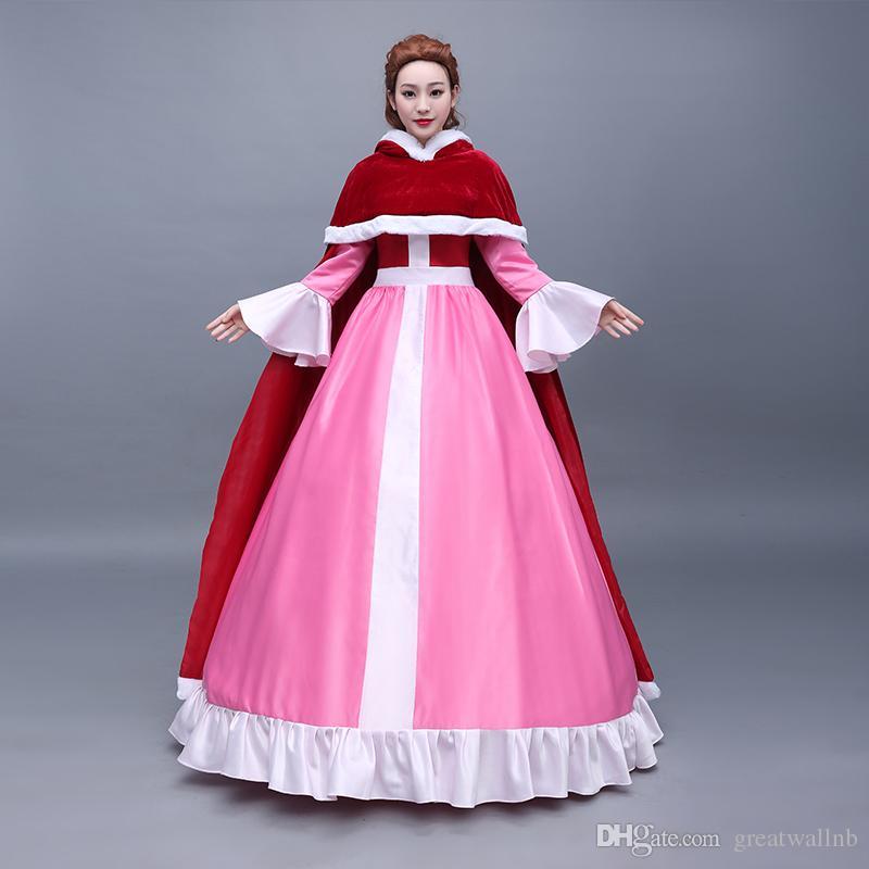 Compre Vestido Rosa 100% Real Con Vestido De Princesa Vestido De ...
