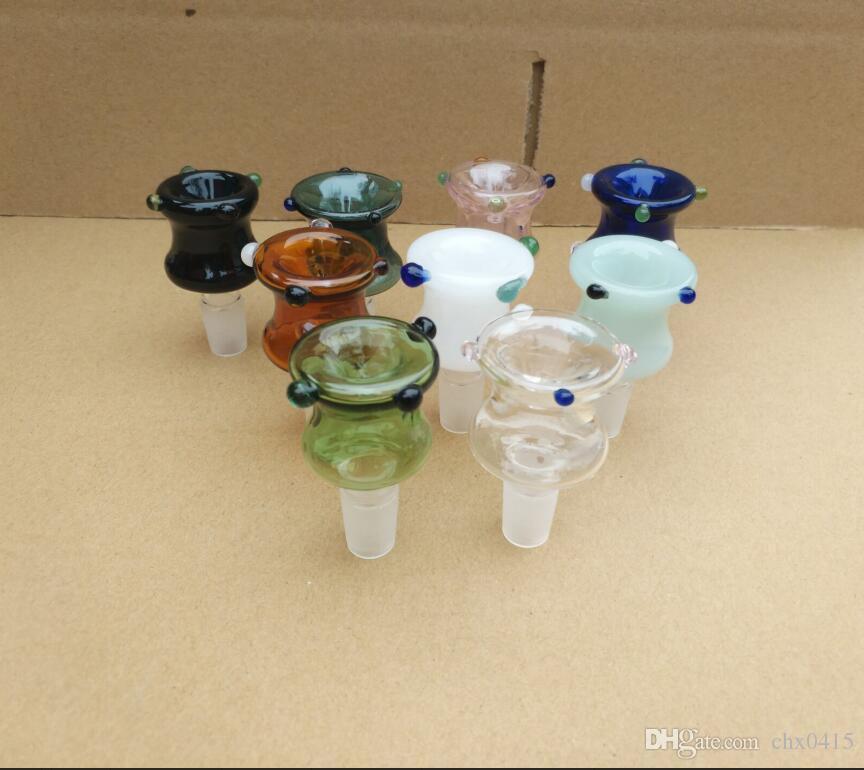 Neue Blase Kopf Farbort, Großhandel Glasbongs Öl-Wasser-Pfeifen Glaspfeife Bohrinseln Rauchen, freies Verschiffen