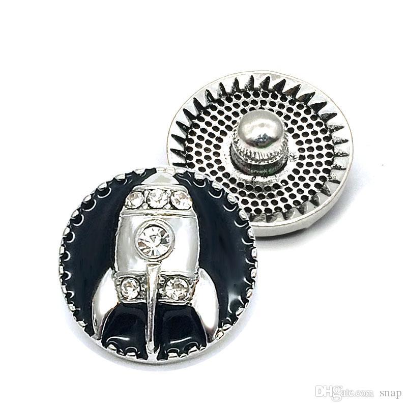 New W341 3D 18mm 25mm Strass Metalldruckknopf für Armband-Halskette Austauschbare Schmuck Frauen Zubehör
