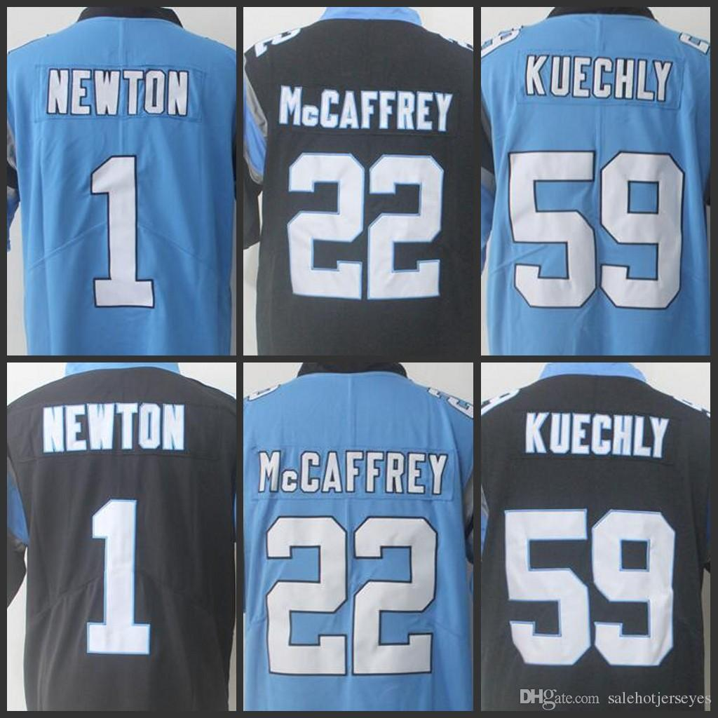 e5b47b215e3 ... buy carolina panthers jersey men 22 christian mccaffrey 1 cam newton 59  luke kuechly limited jerseys ...