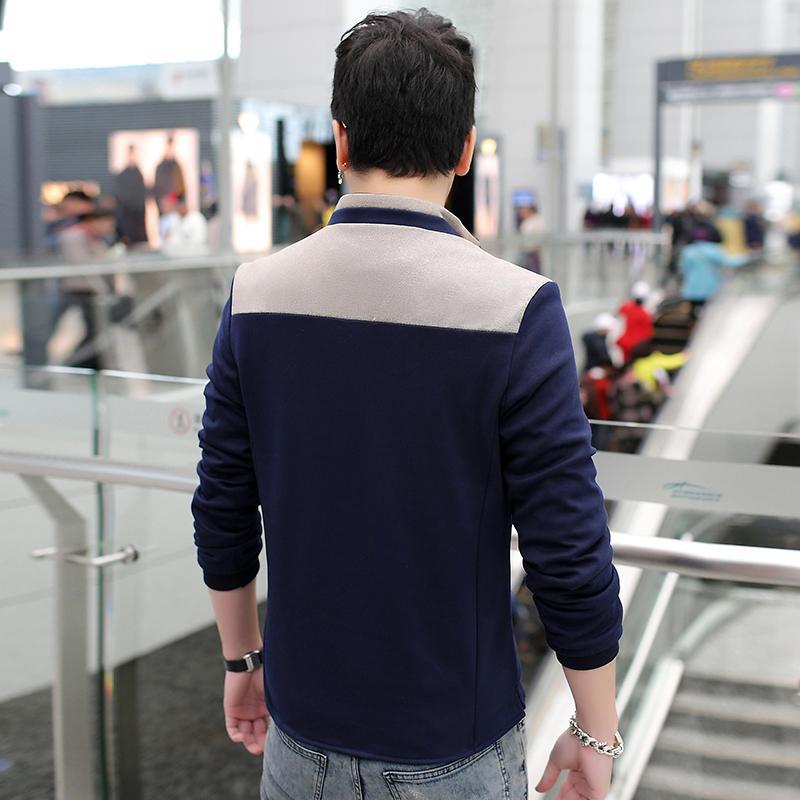 Frühling Herbst neue Mantel Männer Art und Weise beiläufige dünne Männer Jacke Markenkleidung Bomberjacke Herren Baumwolle jaqueta masculina heren jas