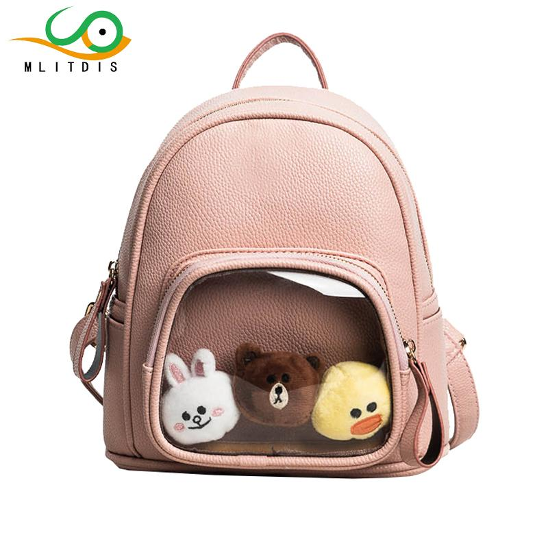 00cc3bab3f MLITDIS Gift 3 Dolls Mini Backpack Women Bags Leather Woman Solid Color  Backpacks For Teenage Girls Cute Backpack For Women Bag Leather Backpack  Laptop ...