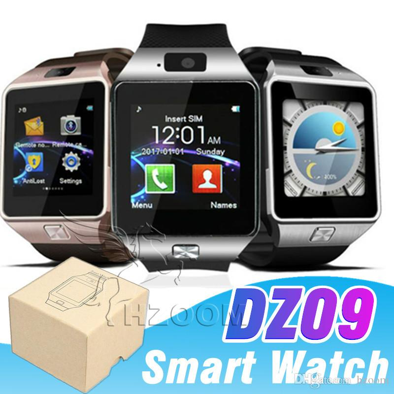 bafb938ec DZ09 Smartwatch Phone Camera SIM Card For Android Iphone Phones Intelligent  Mobile Phone Watch Can Record The Sleep State Smart Watch Smartwatch 2015  ...