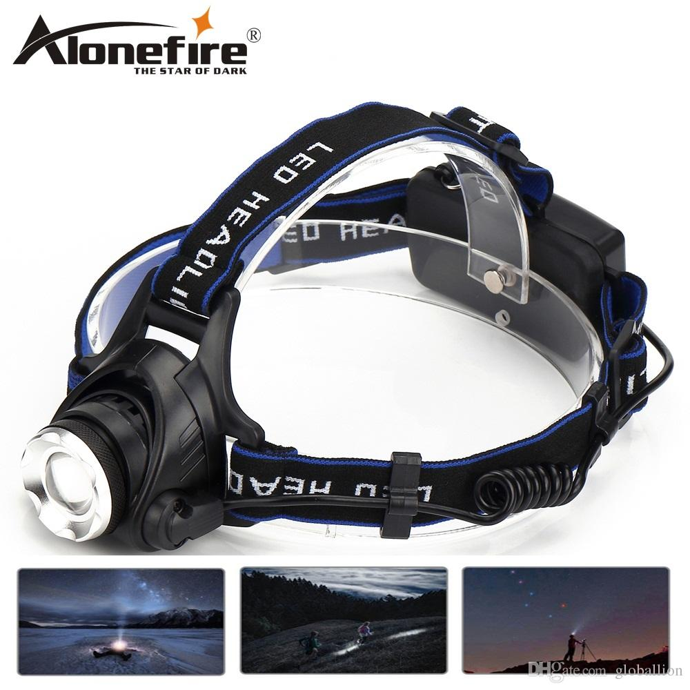 AloneFire HP79 CREE XM-L-T6 LED 3800Lumens Zoomable Rechargeable Headlight LED Headlamp Bicycle light Searchlight For 2x18650 Battery