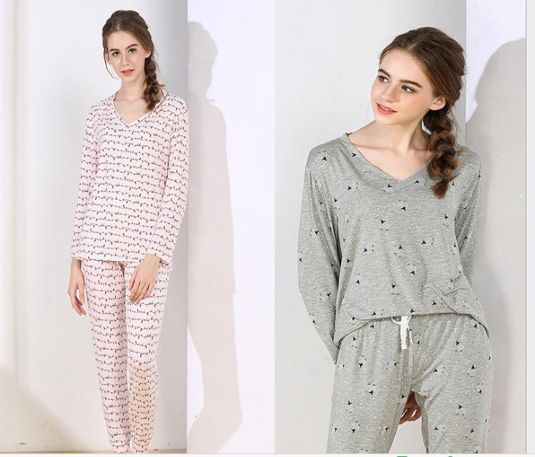 8735ee0770 2019 .Spring Brand New Women Sleep Pajamas