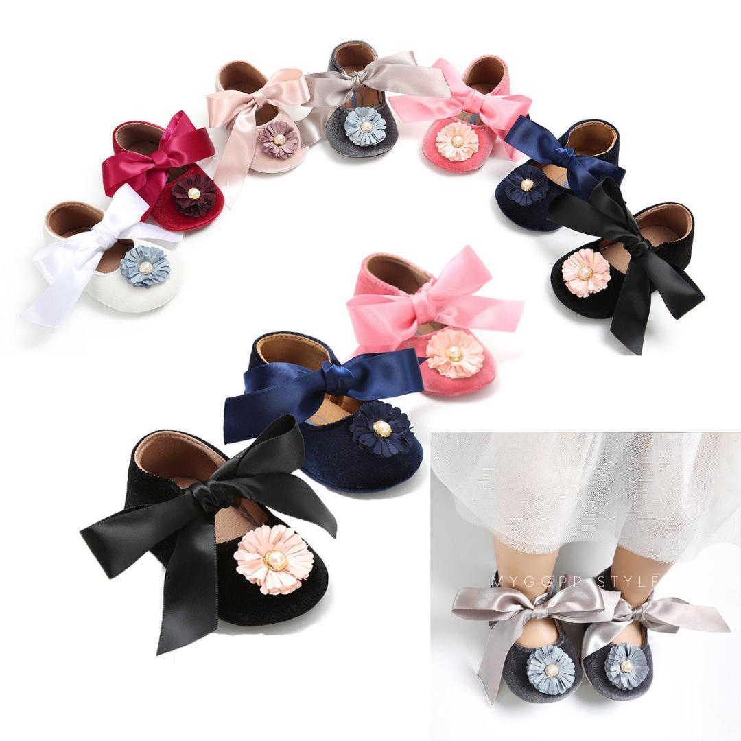 625e32d1 2019 2018 Emmababy Newborn Baby Girls Princess Bowknot Pram Shoes Toddler  Flower Pre Walkers Trainers 0 18 M T From Newyearable, $34.62 | DHgate.Com