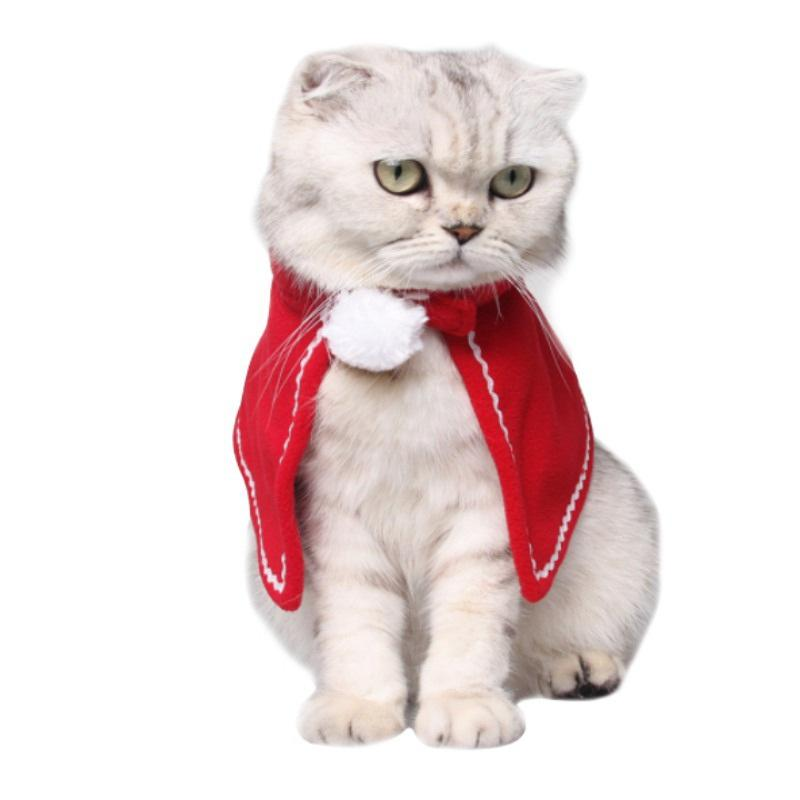 Christmas Dog Costumes.6pcs Lot New Arrival Christmas Pet Cat Dog Costumes Cloaks Mantle Fashion Cat Clothes Pet Puppy Product Christmas For Cat Small Dog