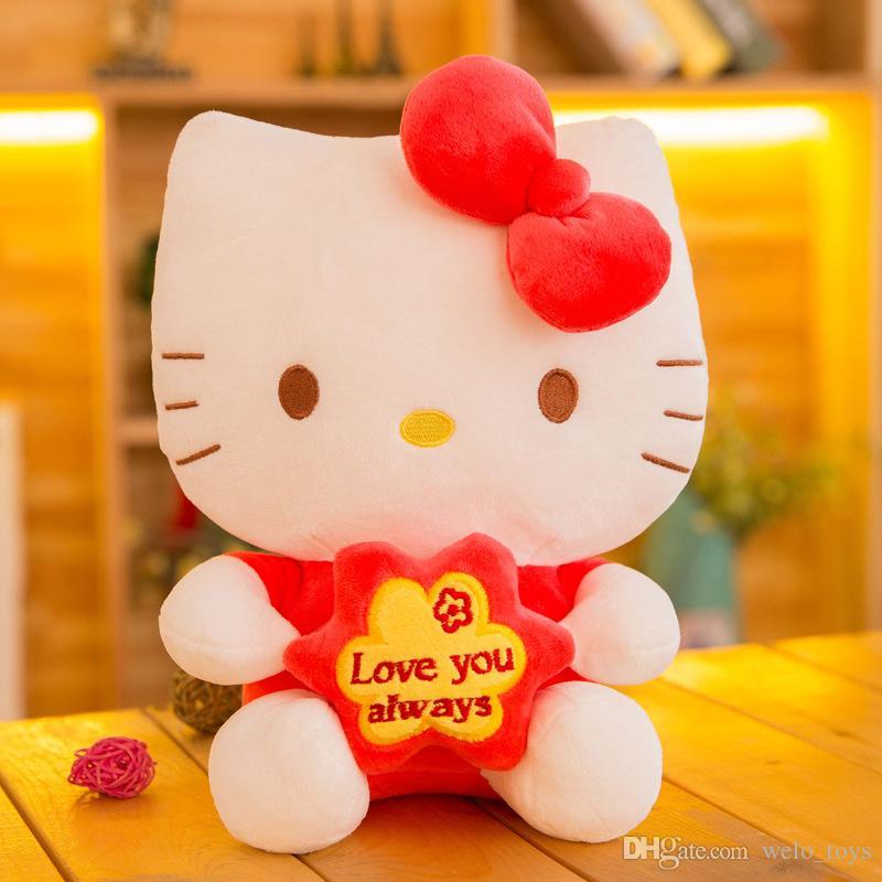 20CM Hello Kitty Stuffed Animals Doll Kawaii KT Cat Plush Toys Pendant Soft Cats Dolls Gift for Girls Boys