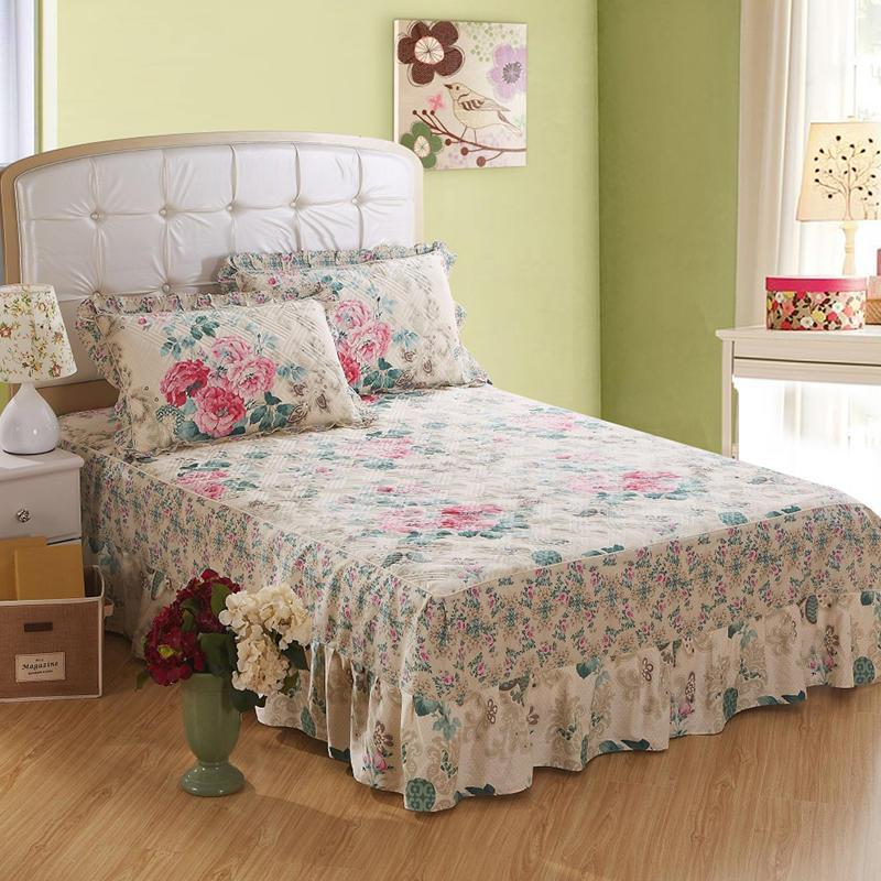 Quilted Thick Bed Skirt Twin Queen King Size Bed Set Bedsheet