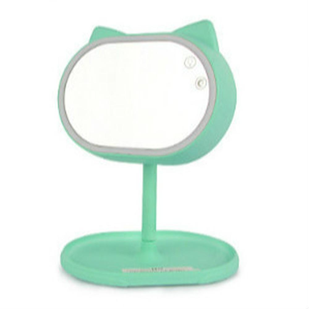 Led Lighted Makeup Mirror Portable Desktop Cosmetic Mirrors Tools