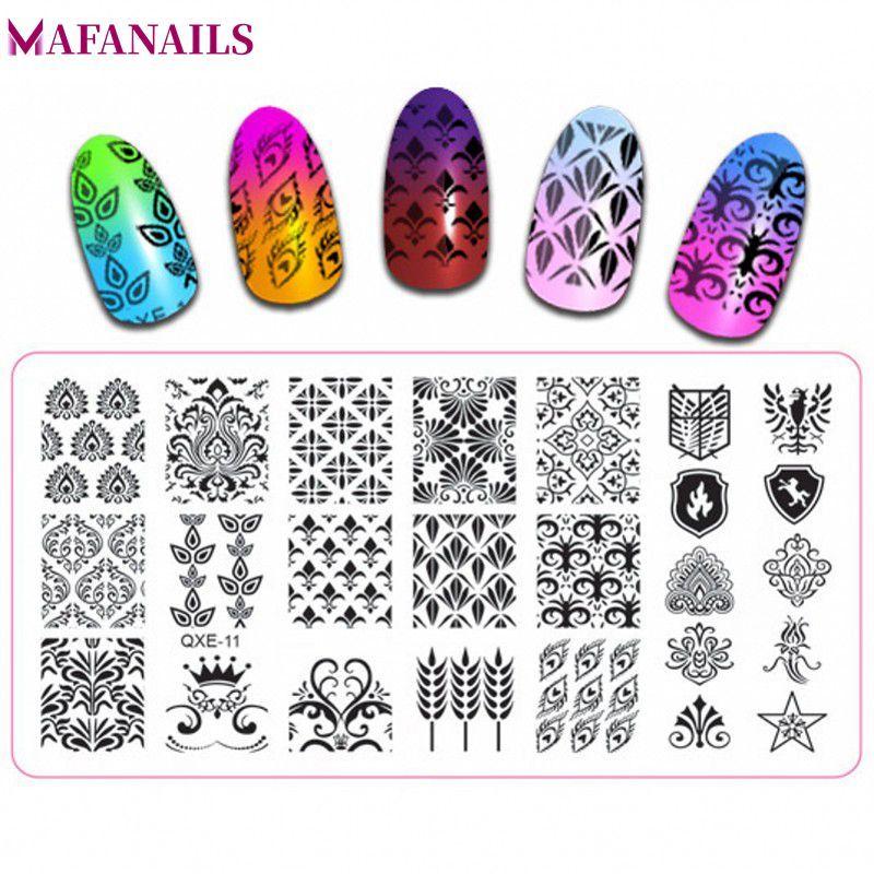 Happy Holiday Stamping Plate Nail Art Stamping Image Plate Diy Stamp Template Nail Stencil Tool Kits Nail Art