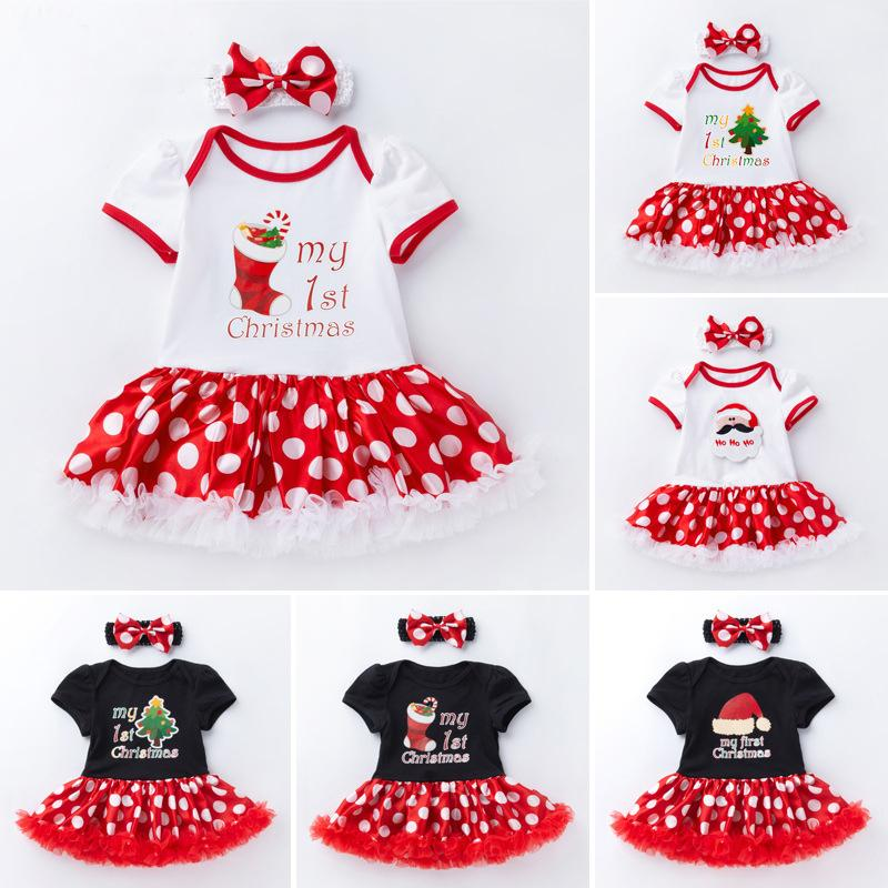 360e1dc52e61 2019 Baby Jumpsuit Short Sleeve Romper Dress Christmas Clothes Newborn New  Year Rompers&Headband Bebes First Birthday Costumes From Henryk, $45.47    DHgate.