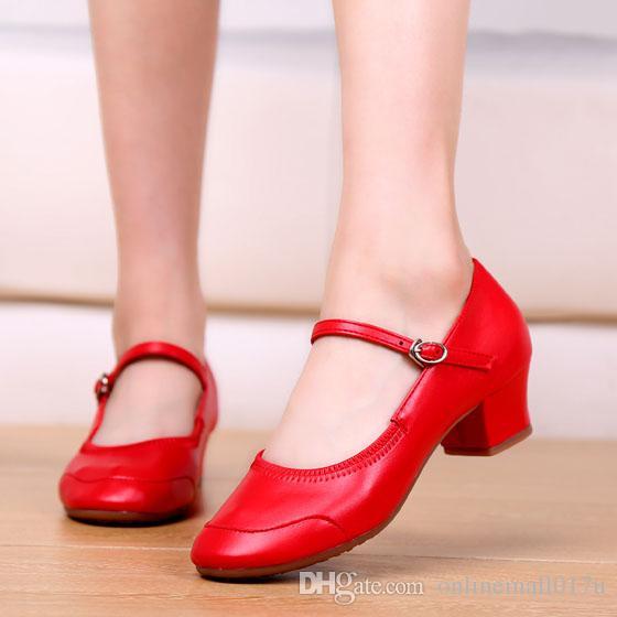 98f1371c Compre Mary Jane Zapatos Para Las Mujeres Del Talón Del Bloque Del Jazz  Latino Moderno Partido De La Boda Zapatos De Tacón Alto Bombas De Las  Señoras ...