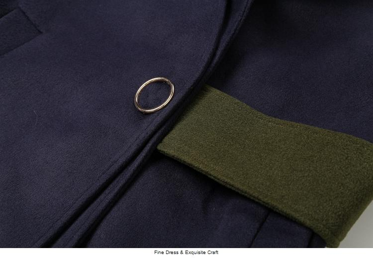 NUEVA venta tridimensional flor bordado damas temperamento abrigo de lana M89689