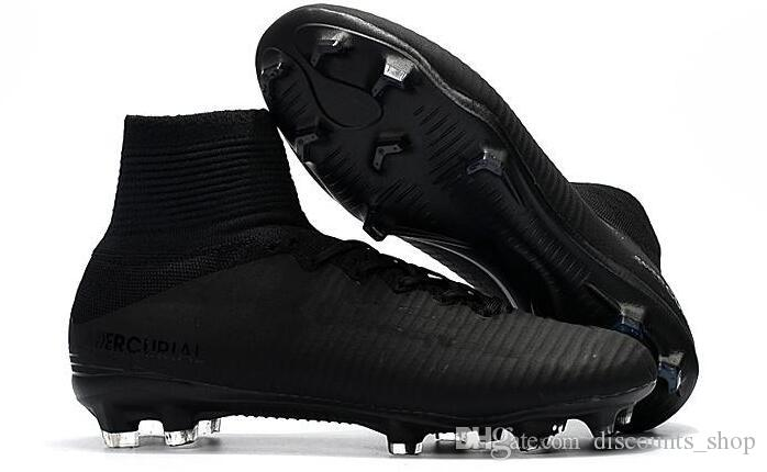 newest collection c43c7 2c429 2018 New White Gold CR7 Black Soccer Cleats Mercurial Superfly FG V Kids  Soccer Shoes Cristiano Ronaldo Football Turf Shoes Football Trainers From  ...