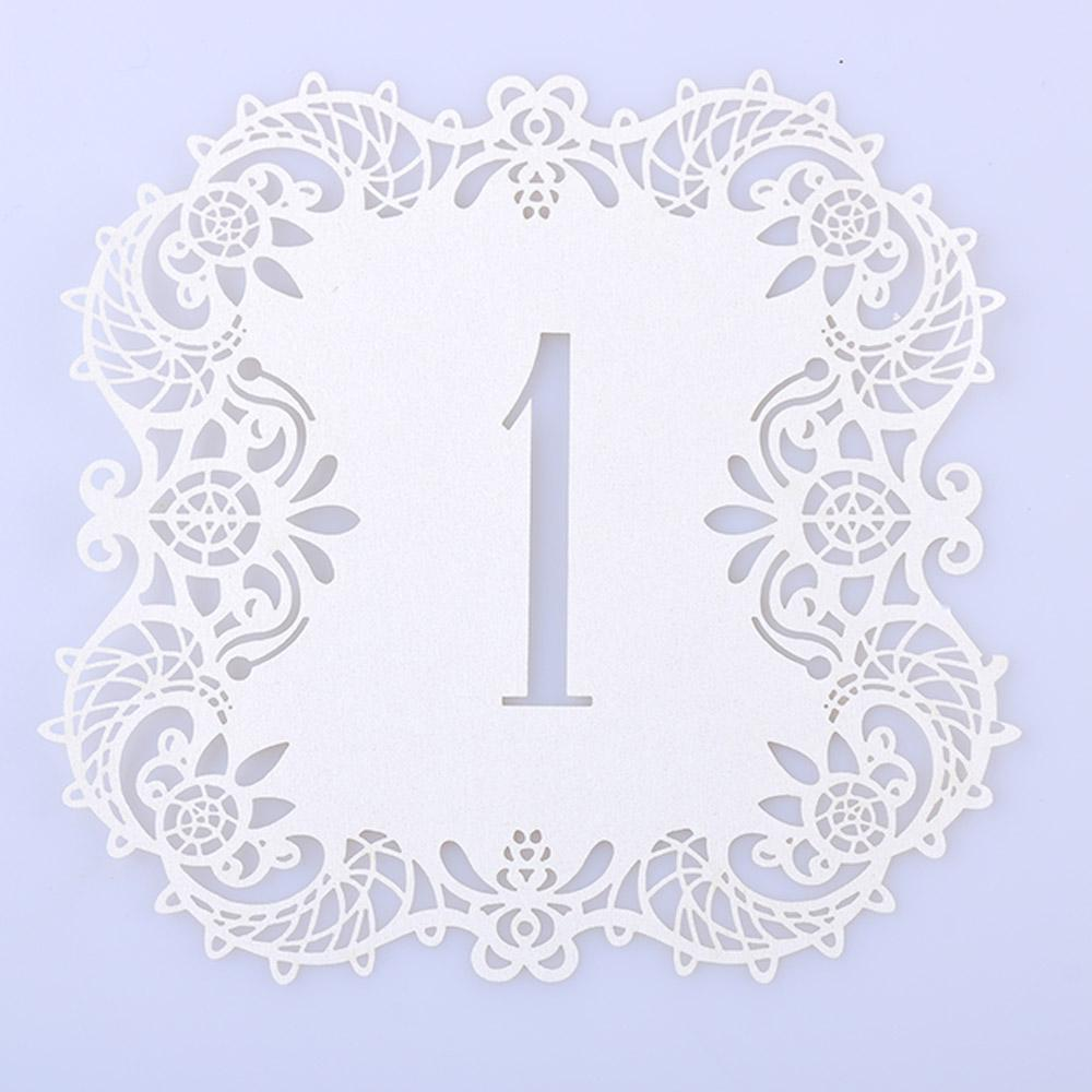 Romantic Vintage Wedding Table Number Table Cards Hollow Laser Cut Card Numbers Home Decor Party Favors