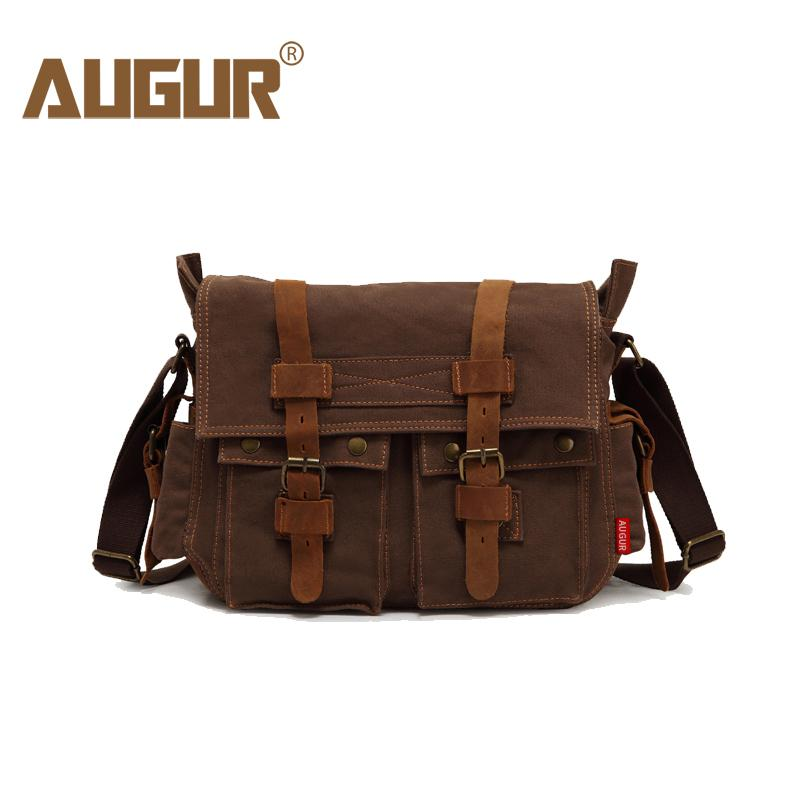 AUGUR New Arrival Mens Crossbody Bag Vintage Military Men Canvas Messenger  Bag Teenager College School Travel Shoulder Bags Clutch Bags Hobo Bags From  ... 348e7bfaa63f9