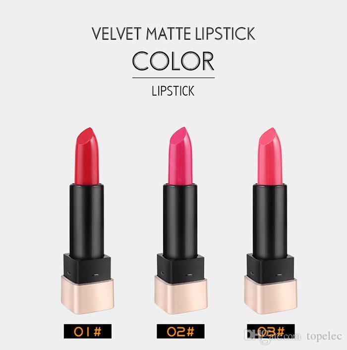 Yanqina moisturizing lipstick dark red 6 colors waterproof long long lasting sexy red batom matte lipstick pencil