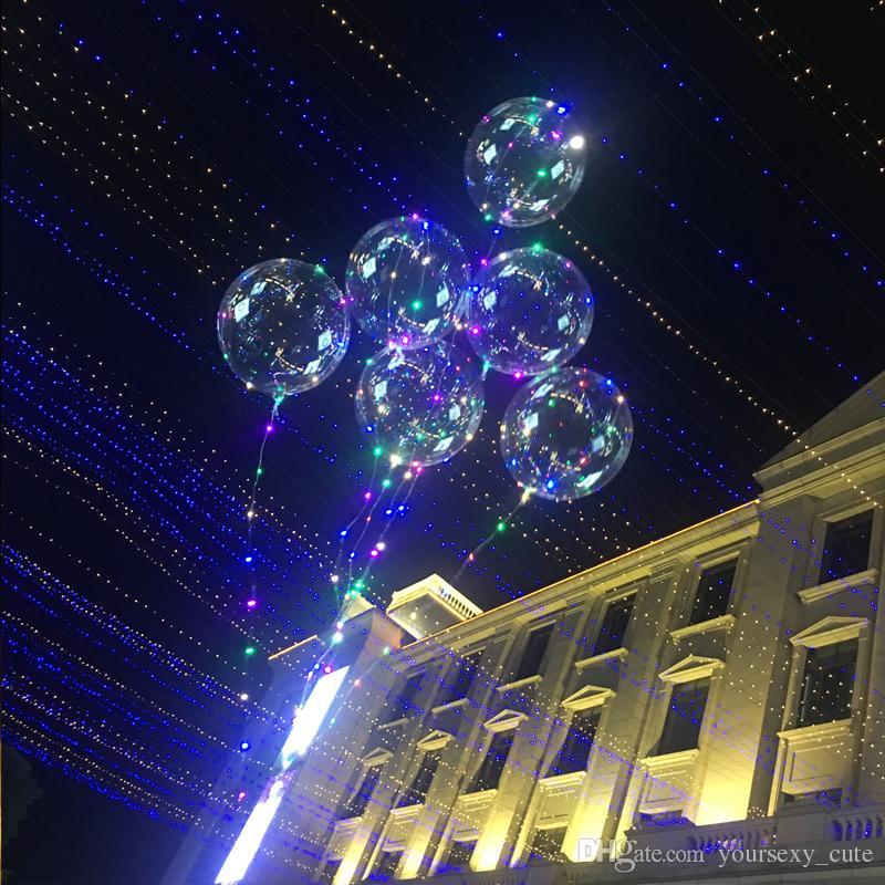 Decorazione di matrimonio romantico LED Bobo Balloon Line Archi Balloon Air Light Lanterna Christmas Party Decorazione della stanza dei bambini