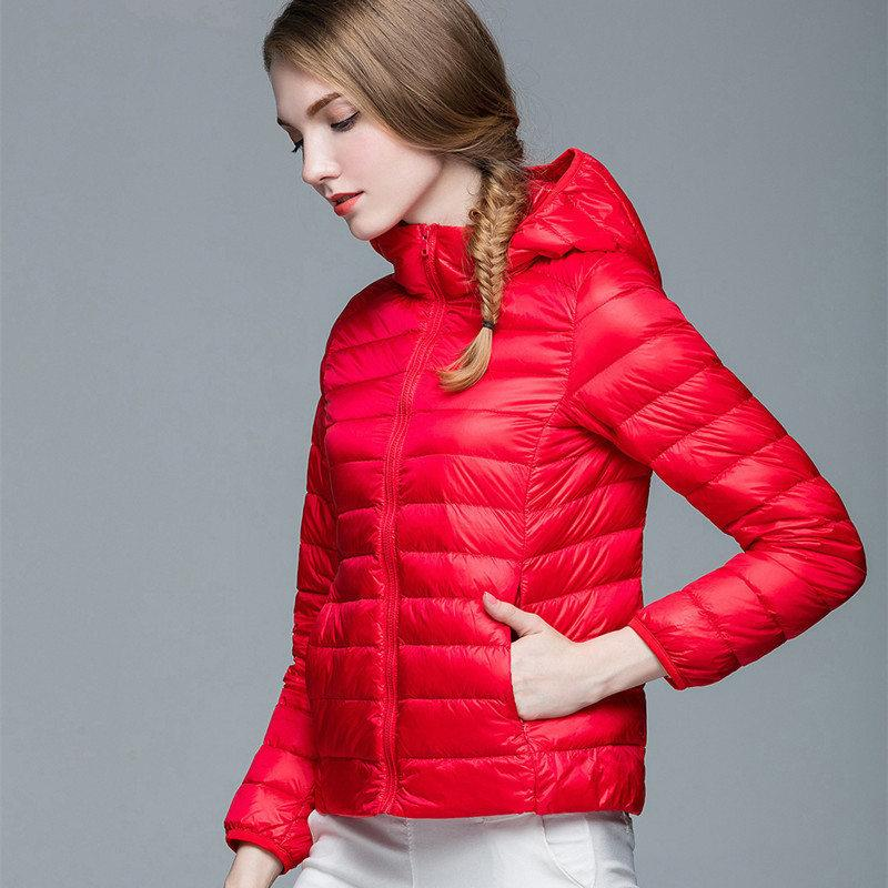 076dbd8d9e8 2019 Women Winter Down Jackets Hooded Korean 2018 Slim Puffer Jacket  Portable Windproof White Duck Down Coat Female Clothes Y18101702 From  Zhengrui05, ...