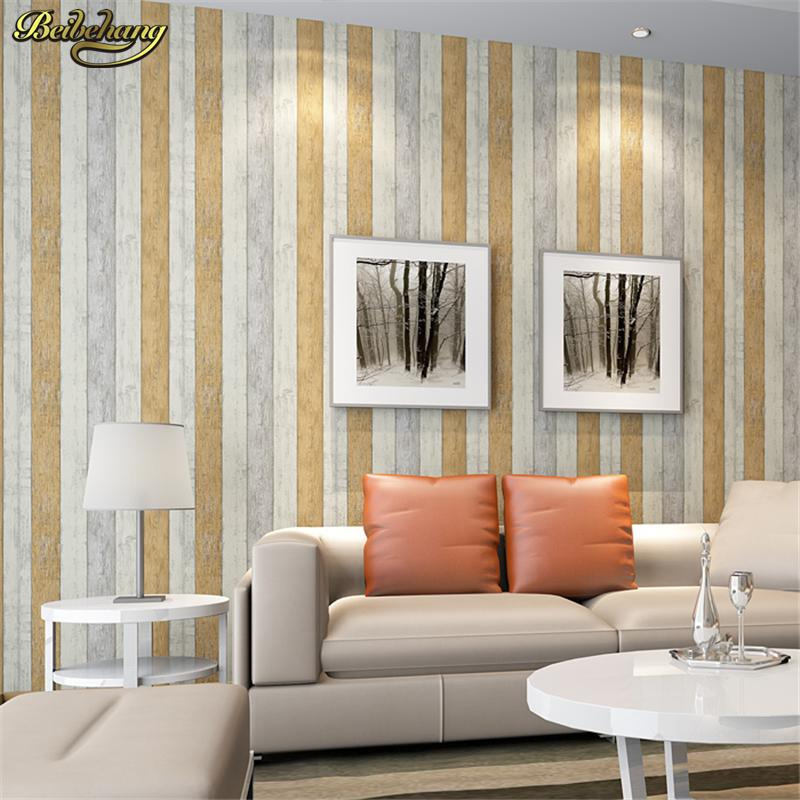 beibehang mediterranean style nostalgic wood grain wallpaper living