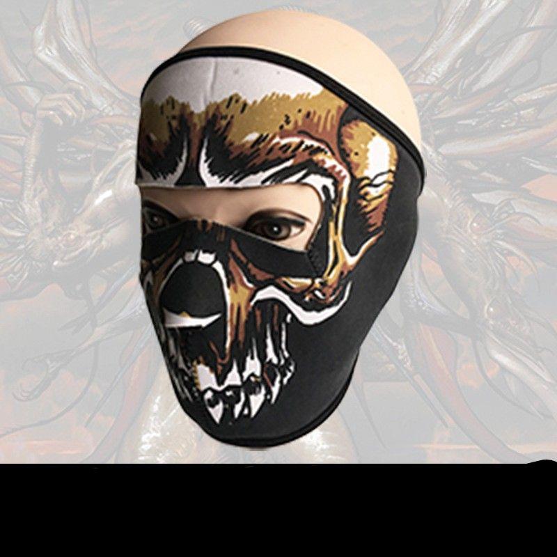 Yeni Desen Kafatası Yüz Maskesi Renkler Cadılar Bayramı Kostüm Partisi Açık Havada Motosiklet Sıcak Eşarp Kayak Snowboard Spor Havlu 6fd W Tutmak