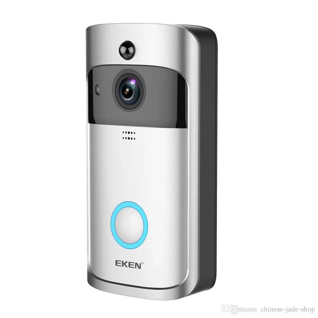EKEN Home Video Timbre inalámbrico 2 720P HD Wifi Video en tiempo real Audio bidireccional Visión nocturna PIR Detección de movimiento con campanas /