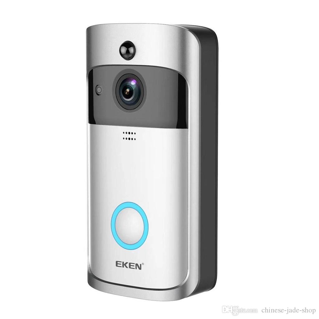 EKEN Home Video Wireless Doorbell 2 720P HD Wifi Real-Time Video Two Way Audio Night Vision PIR Motion Detection with bells