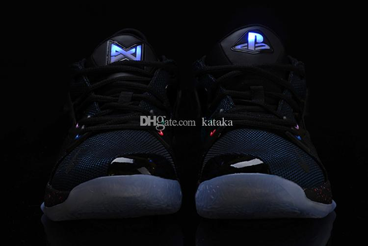 cheap for discount 807cb 18d2b Compre 2018 Lights UP PG 2 PlayStation Taurus Road Zapatillas De Baloncesto  Master Para Paul George II PG2 2s PS Athletic Sport Sneakers Talla 40 46 A  ...