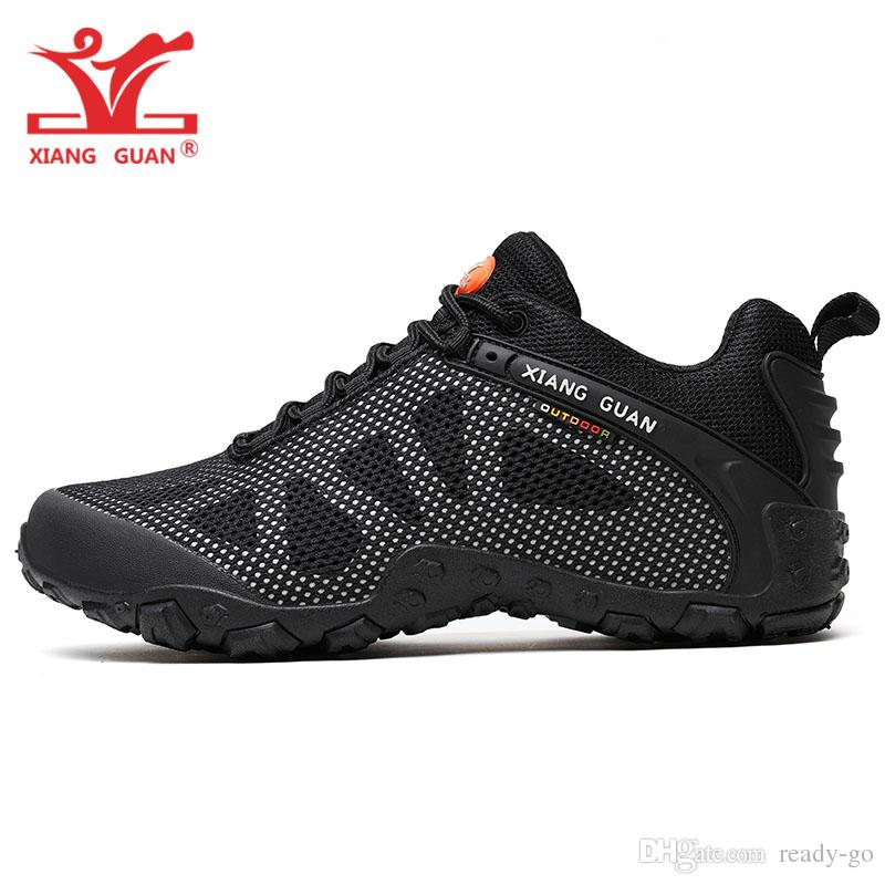 Men Outdoor Hiking Shoes for Women Mesh Breathable Antiskid Athletic Trainers Trekking Sports Footwear Black Trail Mountain Walking Sneakers