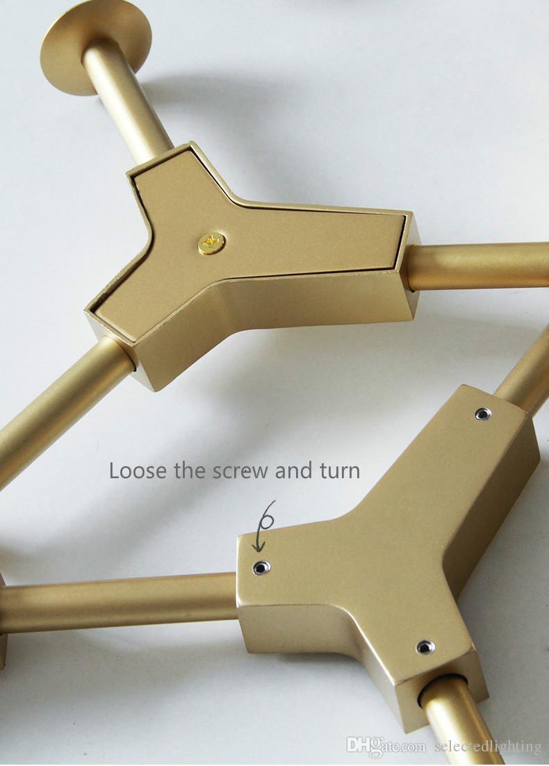 Lindsey Adelman Globe Glass Pendant Lamp Branching Bubble Modern Chandelier Light for Kitchen/Cafe/Cloth Shop