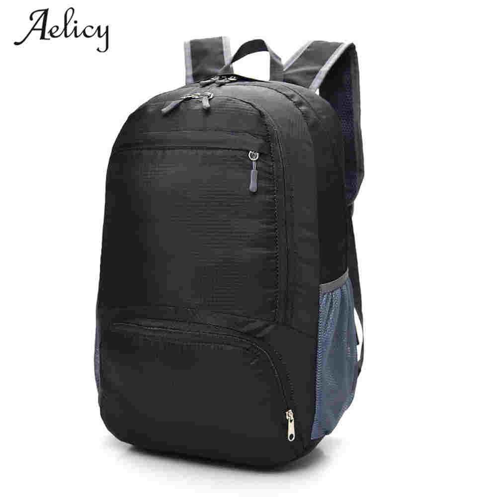 71aec38109 Aelicy 2018 Fashion Waterproof Nylon Backpack Men Travel Backpack Foldable  Multifunction Bags Male Laptop Backpacsac A Dos Backpacking Backpacks ...